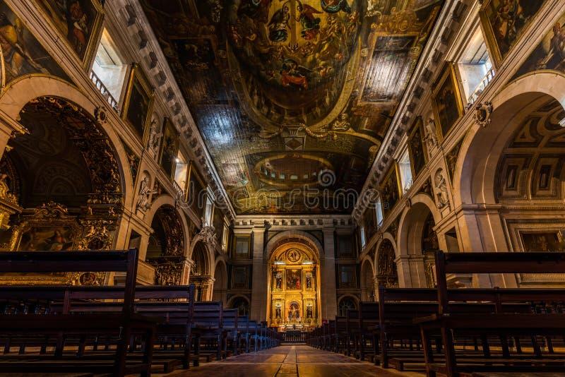 Εκκλησία Αγίου Roch στη Λισσαβώνα, Πορτογαλία στοκ εικόνα