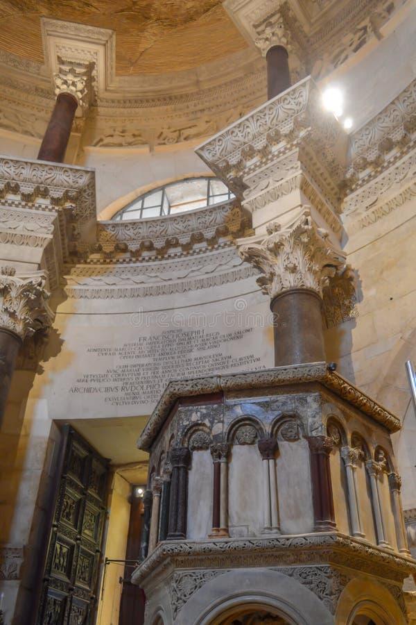 Εκκλησία Αγίου Roch Roka κοντά στο παλάτι Diocletian στη διάσπαση στις 15 Ιουνίου 2019 στοκ εικόνα με δικαίωμα ελεύθερης χρήσης