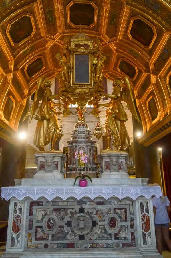 Εκκλησία Αγίου Roch Roka κοντά στο παλάτι Diocletian στη διάσπαση στις 15 Ιουνίου 2019 στοκ φωτογραφία