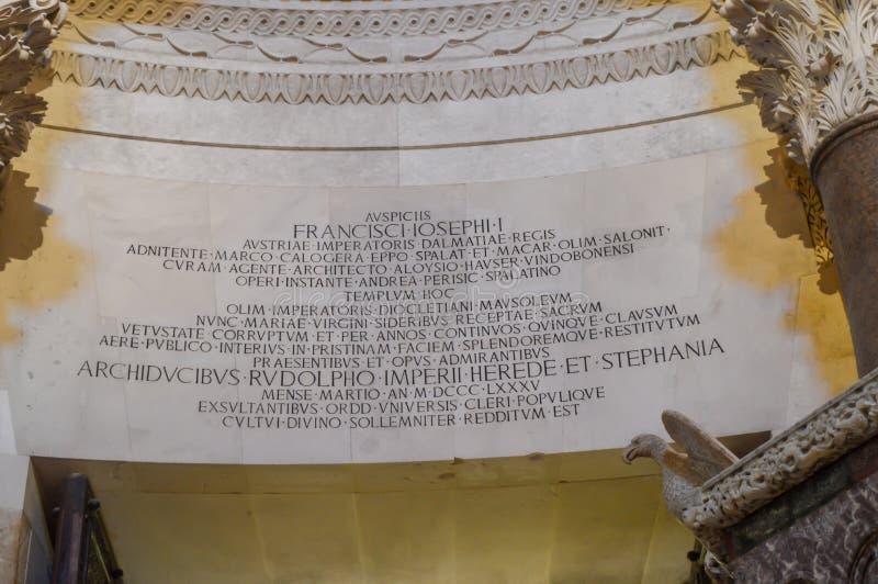 Εκκλησία Αγίου Roch Roka κοντά στο παλάτι Diocletian στη διάσπαση στις 15 Ιουνίου 2019 στοκ εικόνες