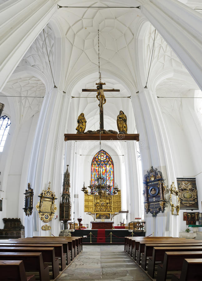 εκκλησία Γντανσκ Mary Πολω&nu στοκ φωτογραφία
