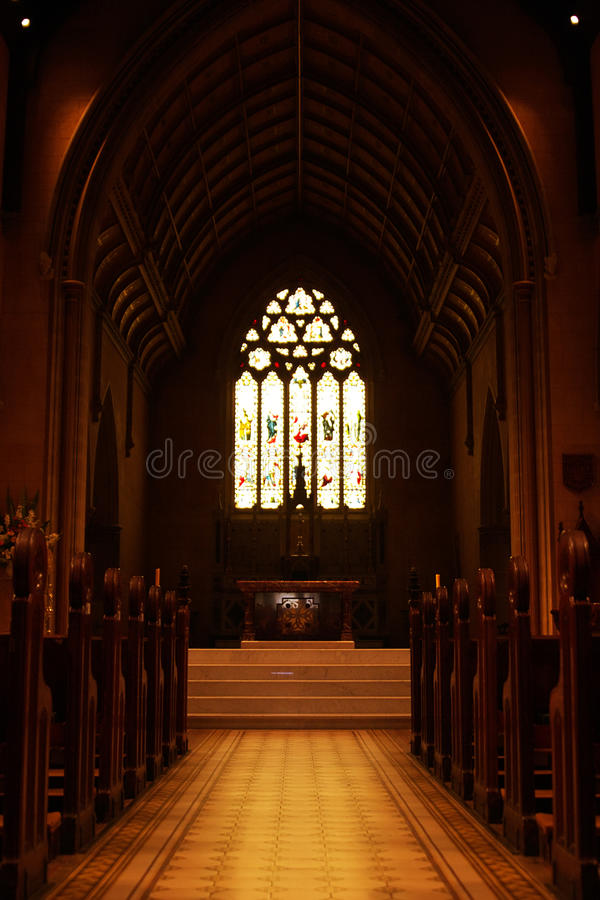 εκκλησία διαδρόμων στοκ εικόνες