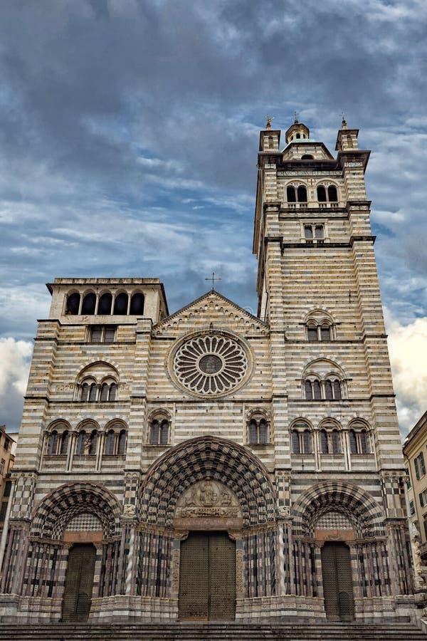 Εκκλησία θόλων SAN Lorenzo της Γένοβας στοκ εικόνα με δικαίωμα ελεύθερης χρήσης