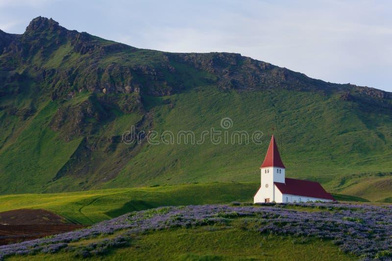 εκκλησία Ισλανδία vik στοκ εικόνες