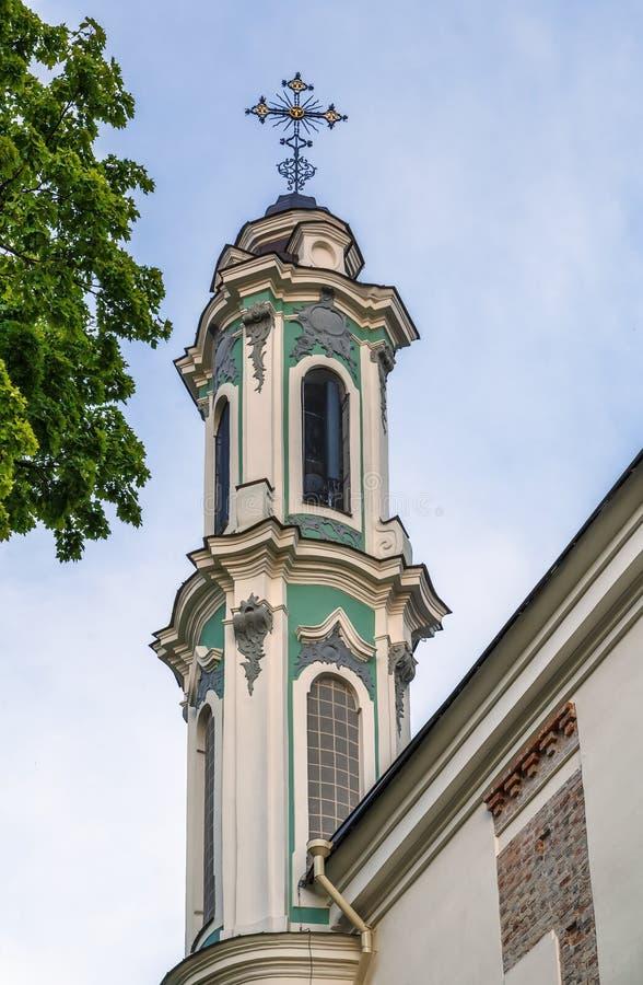 Εκκλησία και μοναστήρι της ιερής τριάδας, Vilnius, Lituania στοκ εικόνα