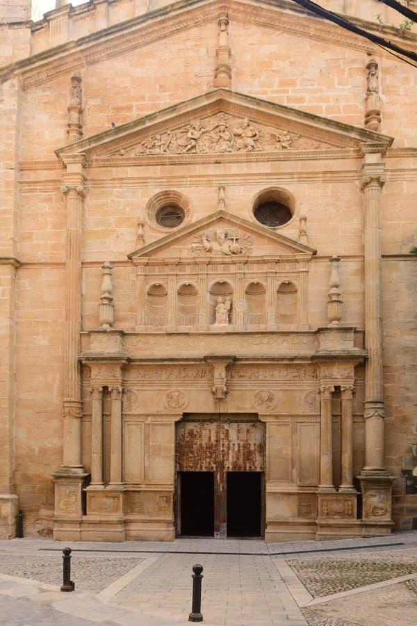 Εκκλησία Λα Asuncion Cretas, Teruel επαρχία, Αραγονία, Ισπανία στοκ φωτογραφίες