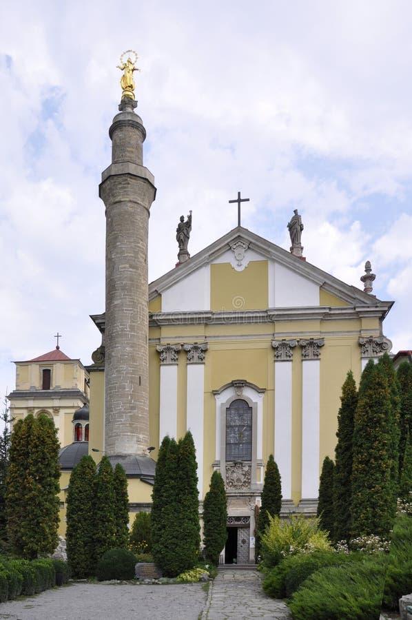 Εκκλησία με το μιναρές - Άγιος Peter και καθεδρικός ναός του Paul σε Kamianet στοκ φωτογραφίες με δικαίωμα ελεύθερης χρήσης