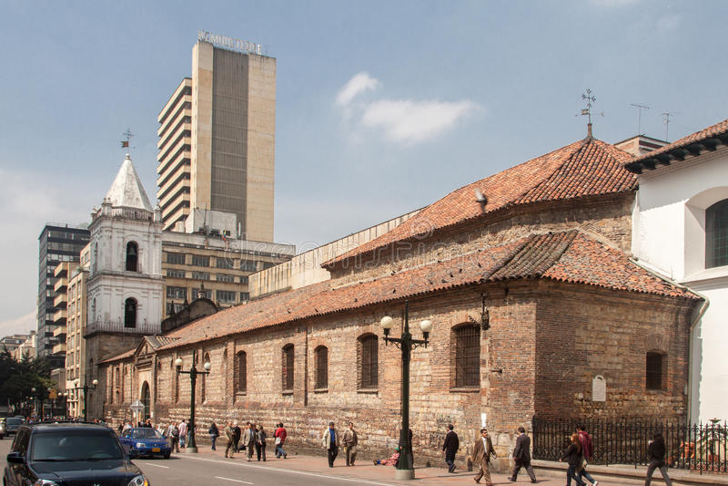 Εκκλησία Μπογκοτά Κολομβία του Σαν Φρανσίσκο στοκ φωτογραφία