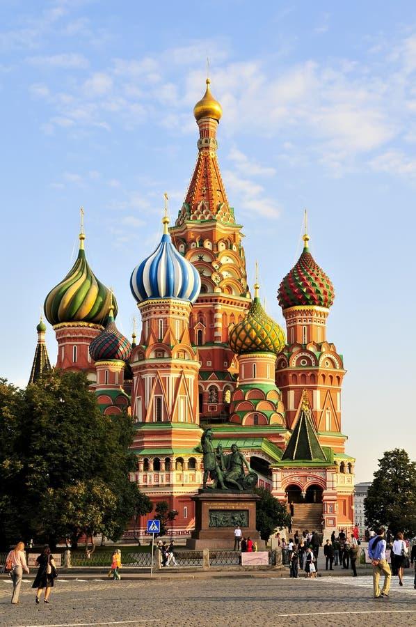 εκκλησία Μόσχα s ST βασιλικ& στοκ φωτογραφίες