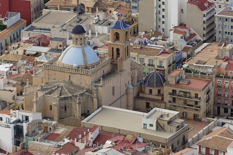 Εκκλησία ομο-καθεδρικών ναών SAN Nicolà ¡ s de Μπάρι από το Castle Sant στοκ φωτογραφίες