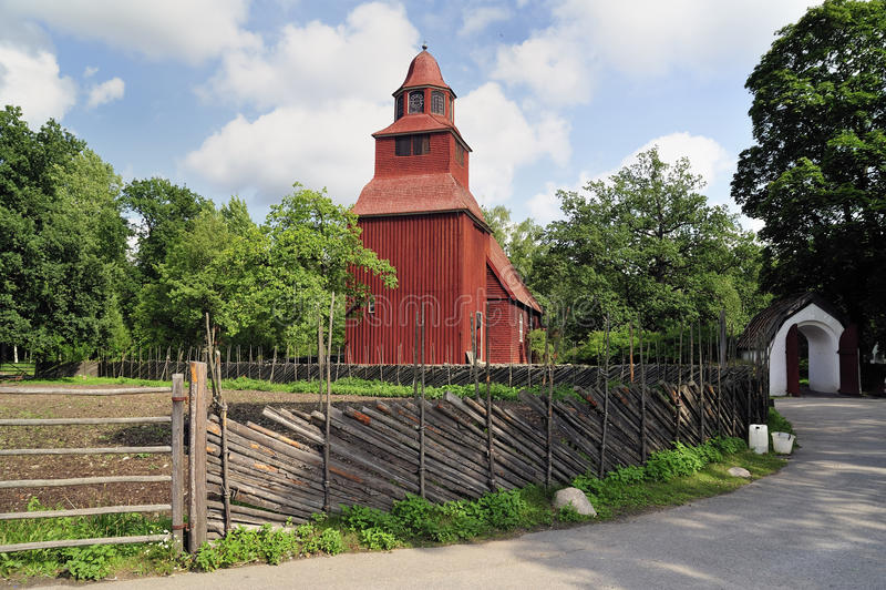 εκκλησία παλαιά σουηδικά στοκ φωτογραφίες