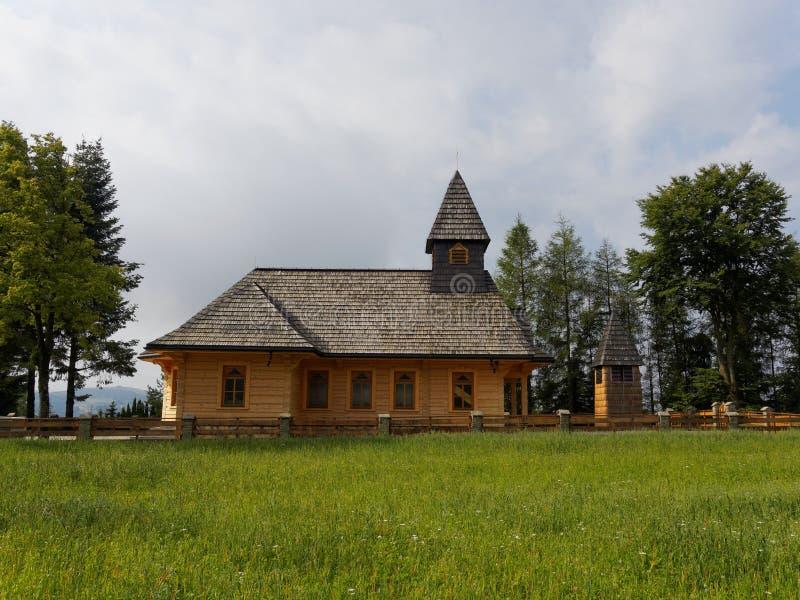 εκκλησία Πολωνία ξύλινη στοκ φωτογραφία