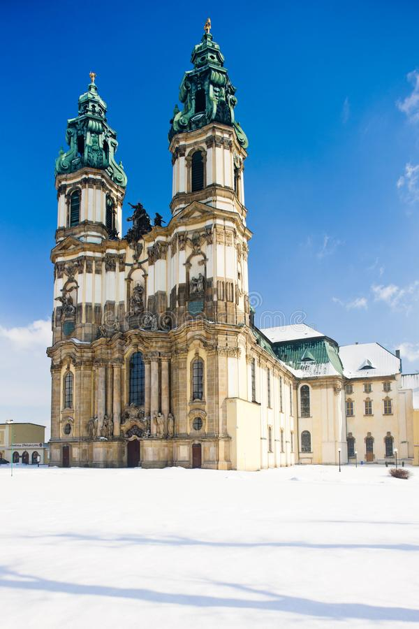 εκκλησία προσκυνήματος σε Krzeszow, Σιλεσία, Πολωνία στοκ φωτογραφία με δικαίωμα ελεύθερης χρήσης