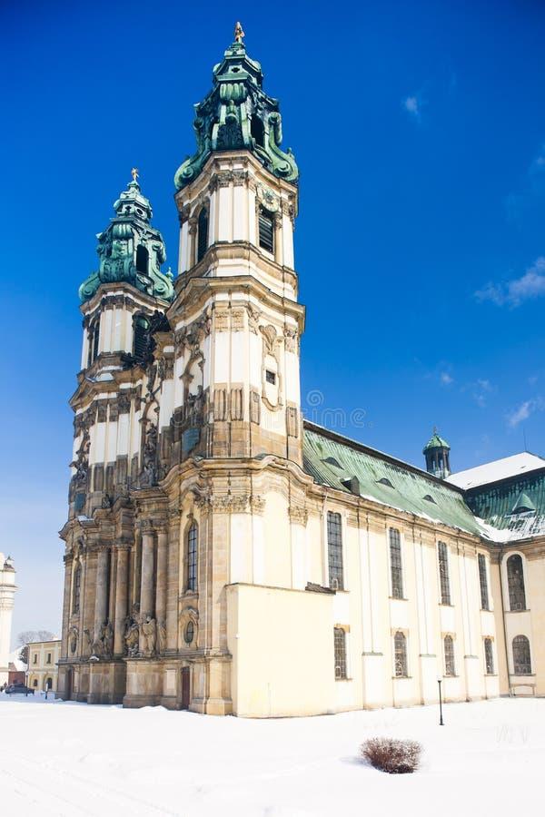 εκκλησία προσκυνήματος σε Krzeszow, Σιλεσία, Πολωνία στοκ εικόνες
