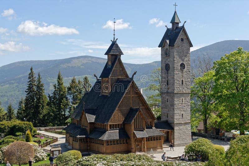 Εκκλησία σανίδων Vang στοκ εικόνα με δικαίωμα ελεύθερης χρήσης