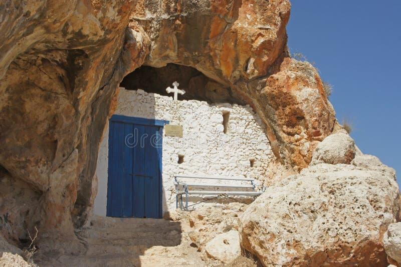 Εκκλησία σπηλιών, Protaras, Κύπρος στοκ φωτογραφία με δικαίωμα ελεύθερης χρήσης