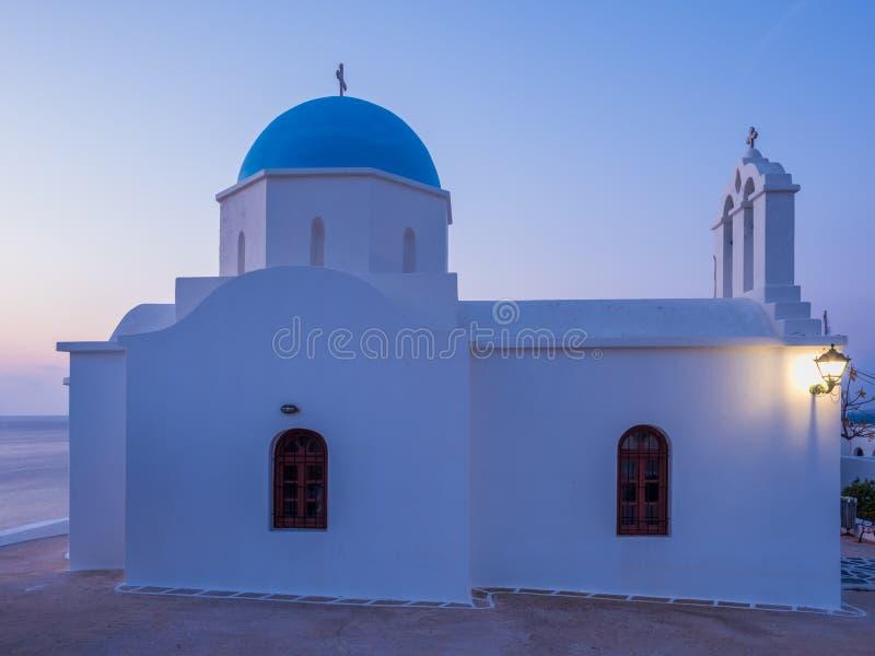 εκκλησία στα ελληνικά νησιά Paros στην ανατολή στοκ φωτογραφίες με δικαίωμα ελεύθερης χρήσης