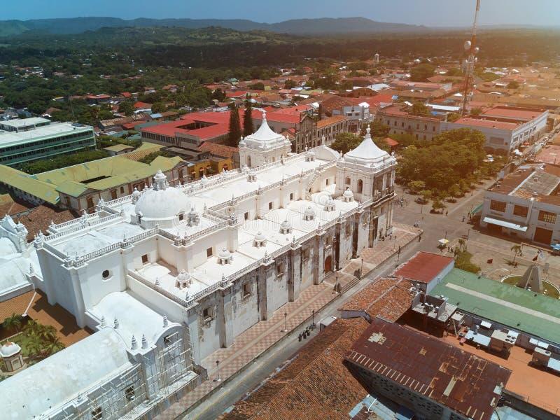 Εκκλησία στο Leon Νικαράγουα στοκ εικόνες