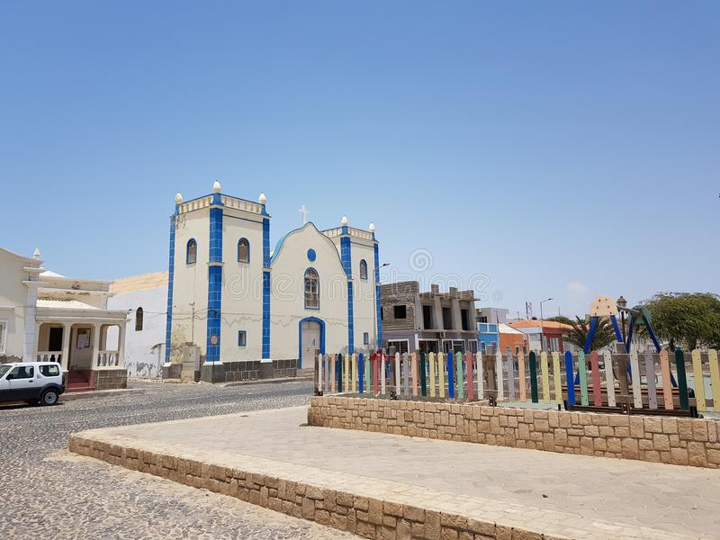 Εκκλησία της Αφρικής στο rei άλατος, Boa Vista στοκ εικόνα