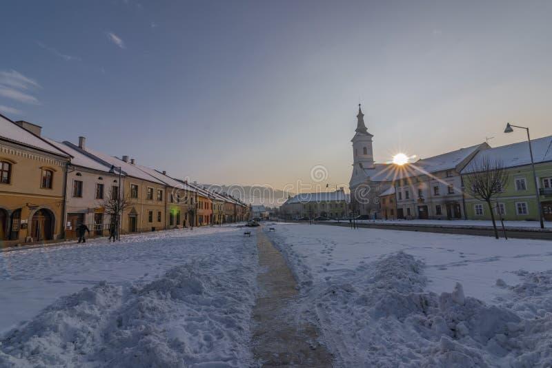 Εκκλησία της γέννησης Αγίου Mary στην πόλη Spisske Podhradie στοκ εικόνες με δικαίωμα ελεύθερης χρήσης