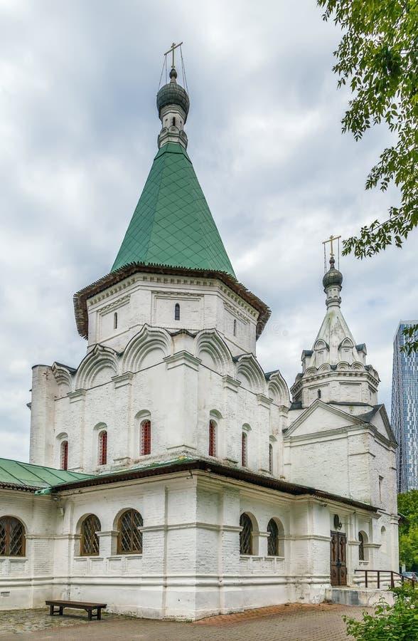 Εκκλησία της ιερής τριάδας σε troitse-Golenishchevo, Ρωσία στοκ φωτογραφία