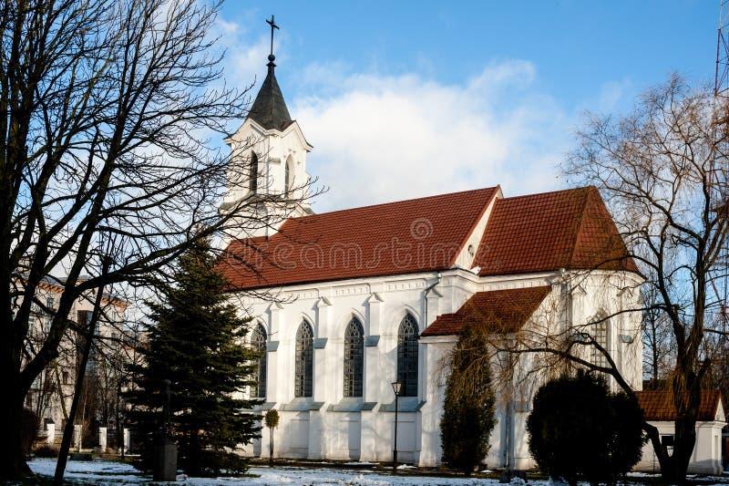 Εκκλησία της ιερής τριάδας στο Μινσκ στοκ εικόνες