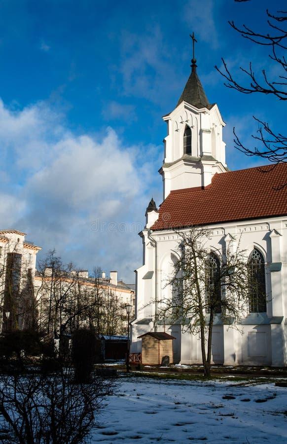 Εκκλησία της ιερής τριάδας στο Μινσκ στοκ φωτογραφίες