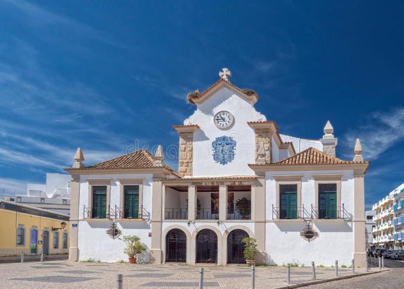 Εκκλησία της κυρίας μας Rosary, Olhao, Πορτογαλία στοκ εικόνες
