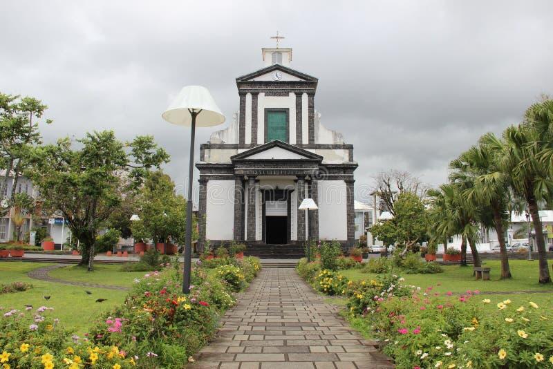 Εκκλησία της Νήσου Ρεϊνιόν Αγίου Benoit στοκ φωτογραφίες με δικαίωμα ελεύθερης χρήσης