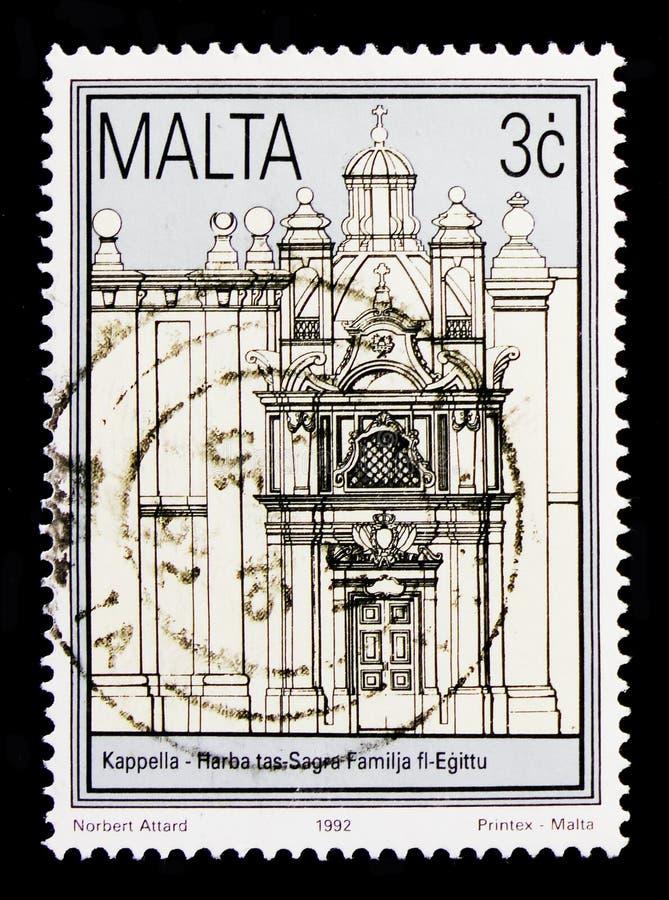 Εκκλησία της πτήσης στην Αίγυπτο, αποκατάσταση του ιστορικού serie κτηρίων 1992, circa 1992 στοκ εικόνα