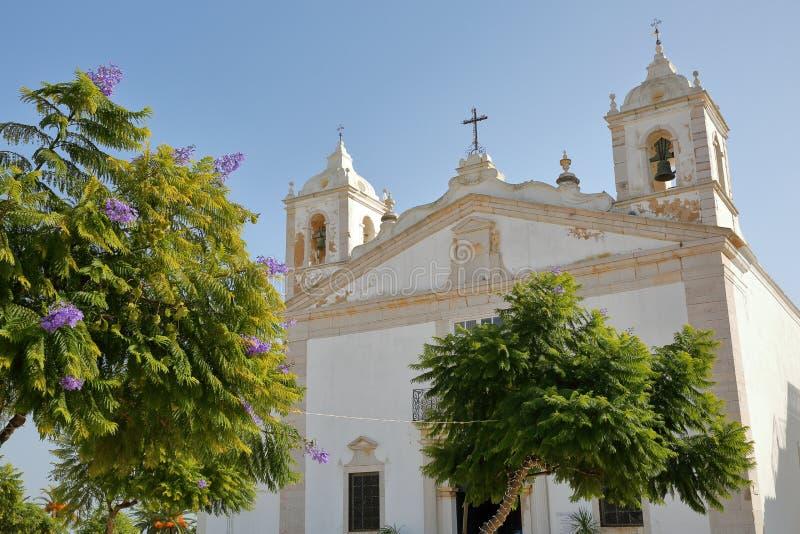 Εκκλησία της Σάντα Μαρία, που βρίσκεται Αλγκάρβε στον ινφάντη το τετράγωνο DOM Henrique στο Λάγκος, στοκ φωτογραφίες με δικαίωμα ελεύθερης χρήσης