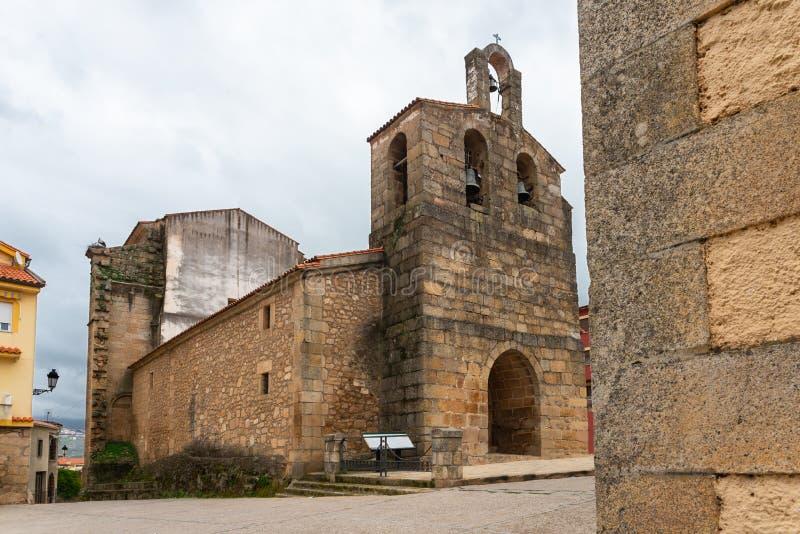 Εκκλησία της Asuncion, Valverde del Φρέσνο, Caceres, Εστρεμαδούρα, Ισπανία στοκ φωτογραφία