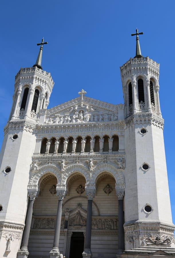 εκκλησία της Notre Dame de Fourviere στη Λυών στη Γαλλία στοκ εικόνα με δικαίωμα ελεύθερης χρήσης