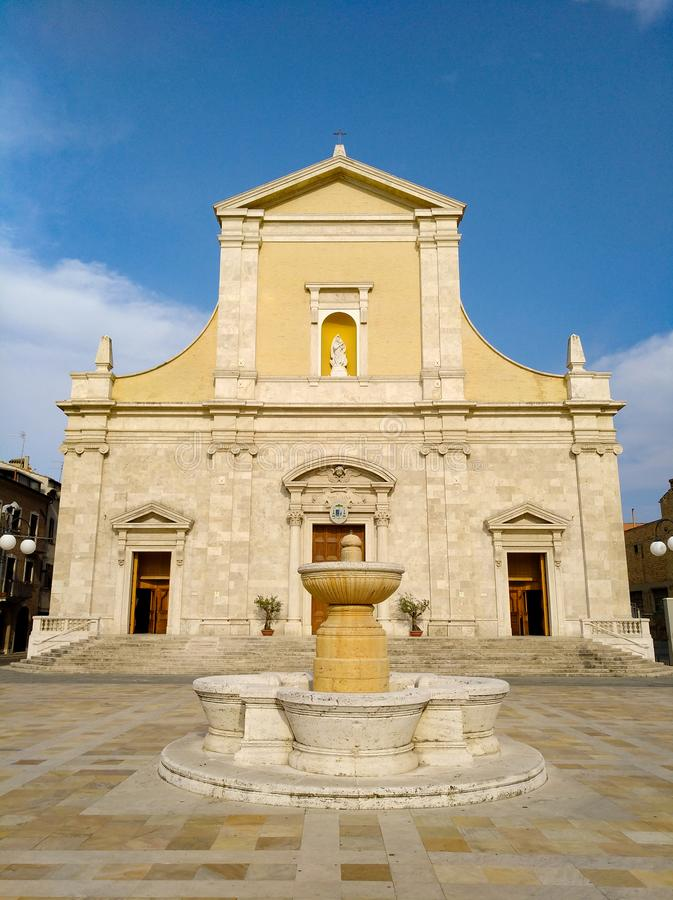 Εκκλησία τη Παναγία Ντελά Μαρίνα - Σαν Βενεδεντέτο ντελ Τρόντο - Ιταλία στοκ εικόνα