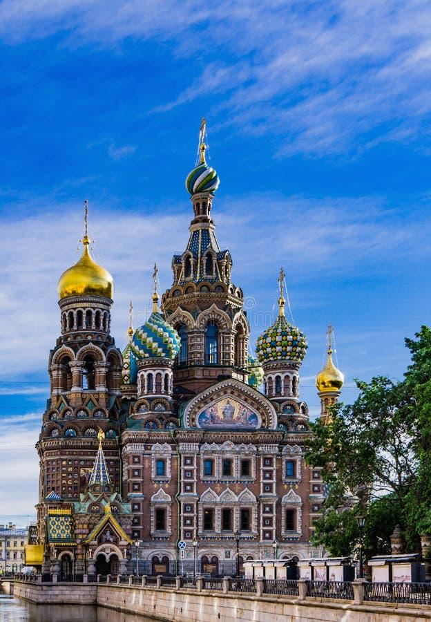 Εκκλησία του αίματος σε Άγιο Πετρούπολη στοκ εικόνες με δικαίωμα ελεύθερης χρήσης