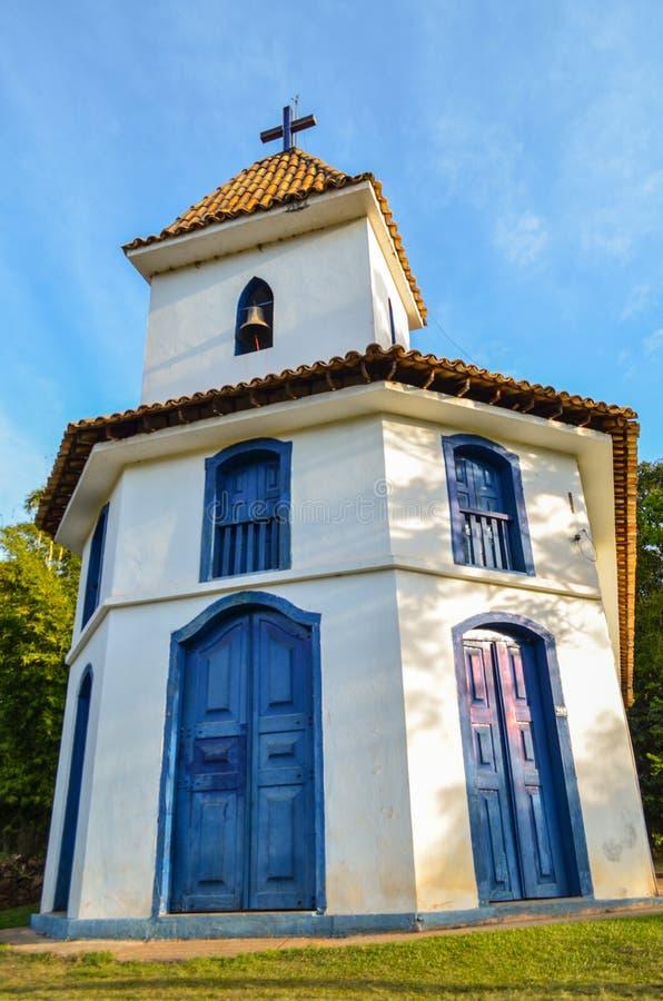 Εκκλησία του Ροσάριο Piedade do Paraopeba, Minas Gerais Βραζιλία στοκ εικόνες