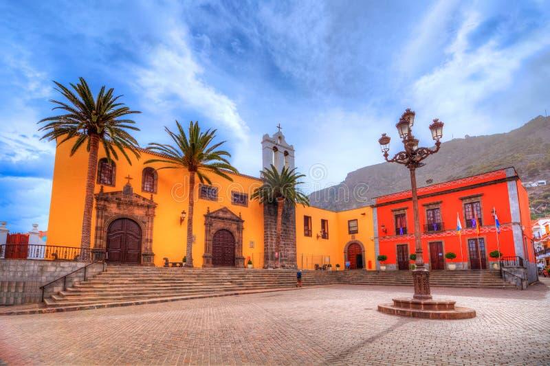 Εκκλησία του Σαν Φρανσίσκο Garachico στην πόλη Tenerife στοκ εικόνες