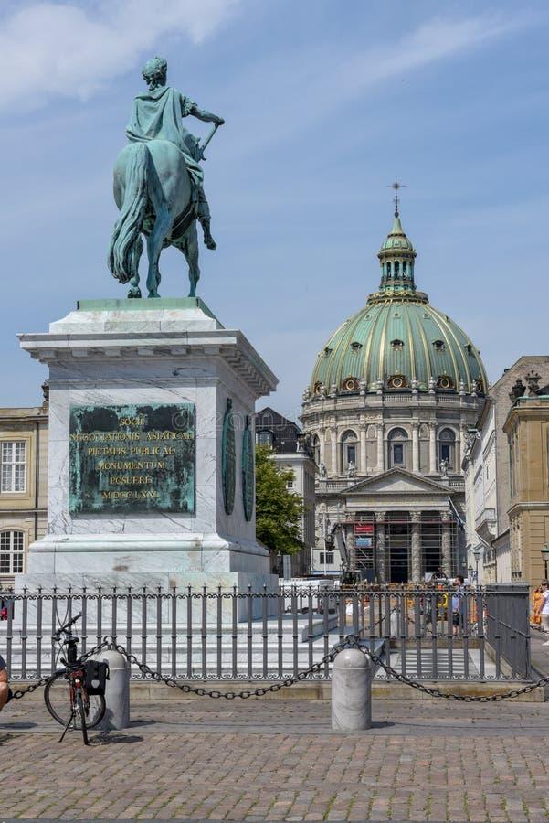 Εκκλησία του Frederik στη πλατεία της πόλης της Κοπεγχάγης στη Δανία στοκ φωτογραφίες με δικαίωμα ελεύθερης χρήσης