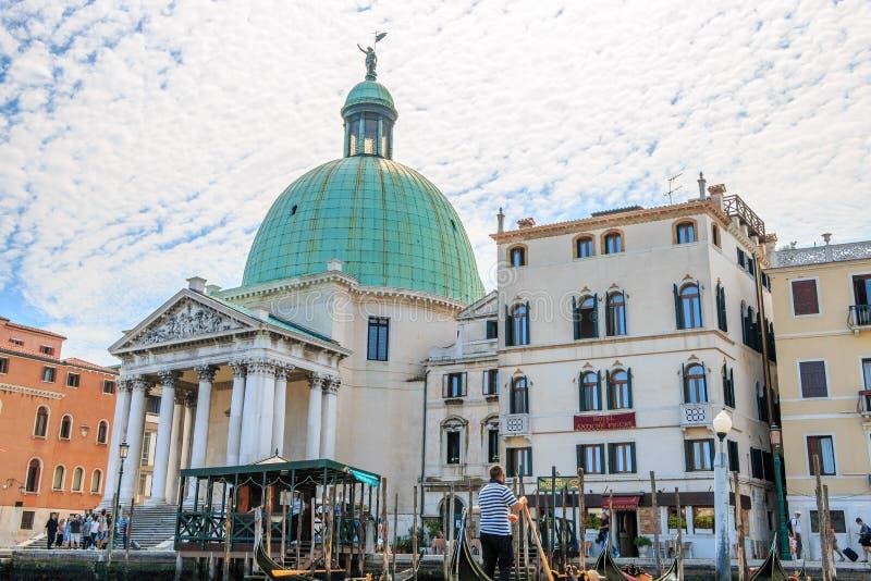 Εκκλησία του SAN Simeon Piccolo στη Βενετία στοκ εικόνες με δικαίωμα ελεύθερης χρήσης
