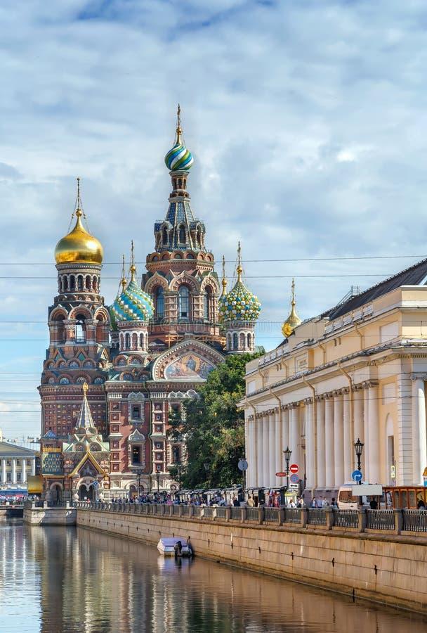 Εκκλησία του Savior στο αίμα, Άγιος Πετρούπολη, Ρωσία στοκ φωτογραφίες
