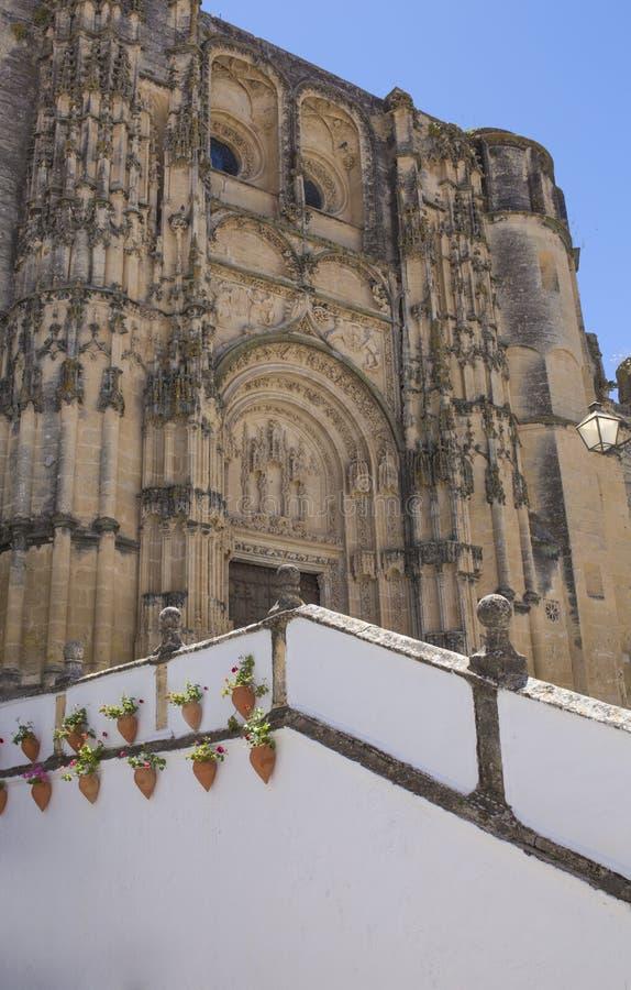 Εκκλησία του ST Μαρία de Λα Asuncion, Arcos de Λα Frontera, Καντίζ, Ισπανία στοκ φωτογραφίες
