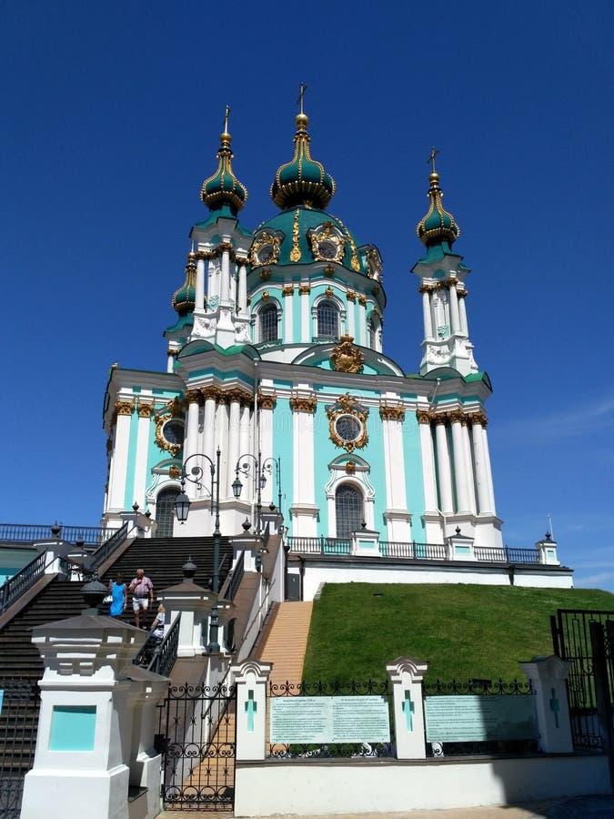 Εκκλησία του ST Andrew ` s στο Κίεβο στοκ φωτογραφία με δικαίωμα ελεύθερης χρήσης