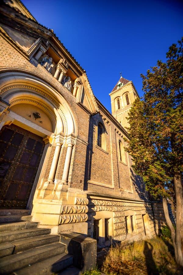 Εκκλησία του ST Gabriel ή Kostel SV Gabriela στην Πράγα, αρχιτεκτονική οδών της Τσεχίας στοκ εικόνα