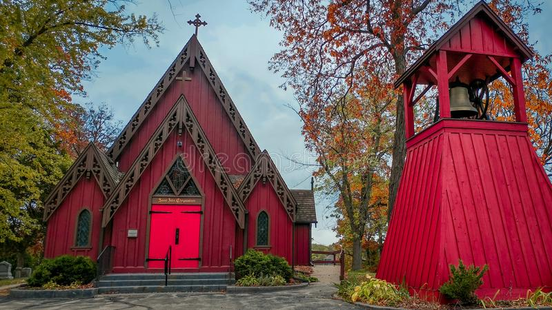 Εκκλησία του ST John Chrysostom, Delafield, Ουισκόνσιν στοκ εικόνες