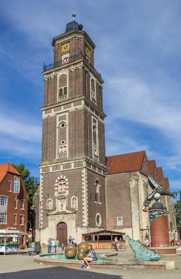 Εκκλησία του ST Lambert στο κεντρικό τετράγωνο Coesfeld στοκ εικόνες
