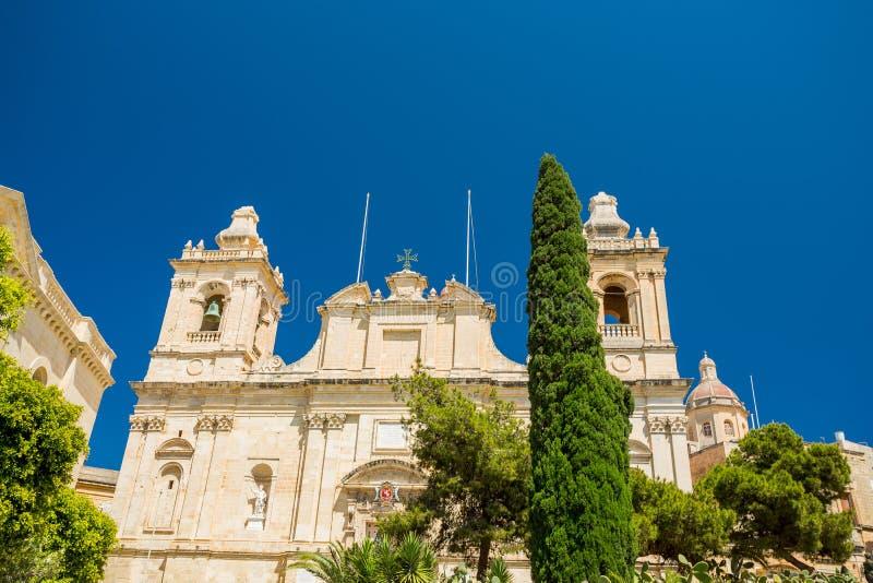 Εκκλησία του ST Lawrence, Μάλτα στοκ εικόνες