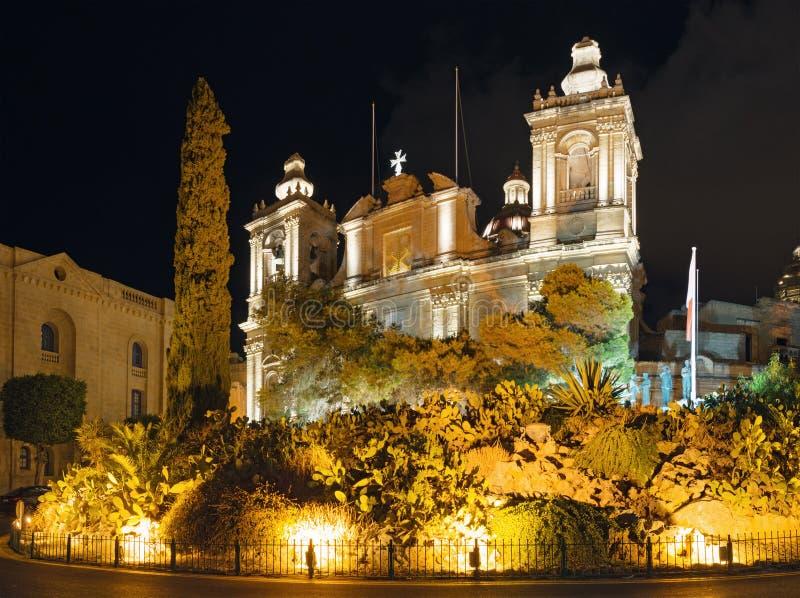 Εκκλησία του ST Lawrence σε Birgu Μάλτα στοκ φωτογραφία