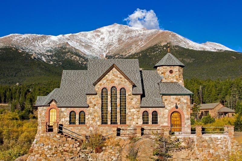 Εκκλησία του ST Malo, Allenspark, Κολοράντο στοκ φωτογραφίες