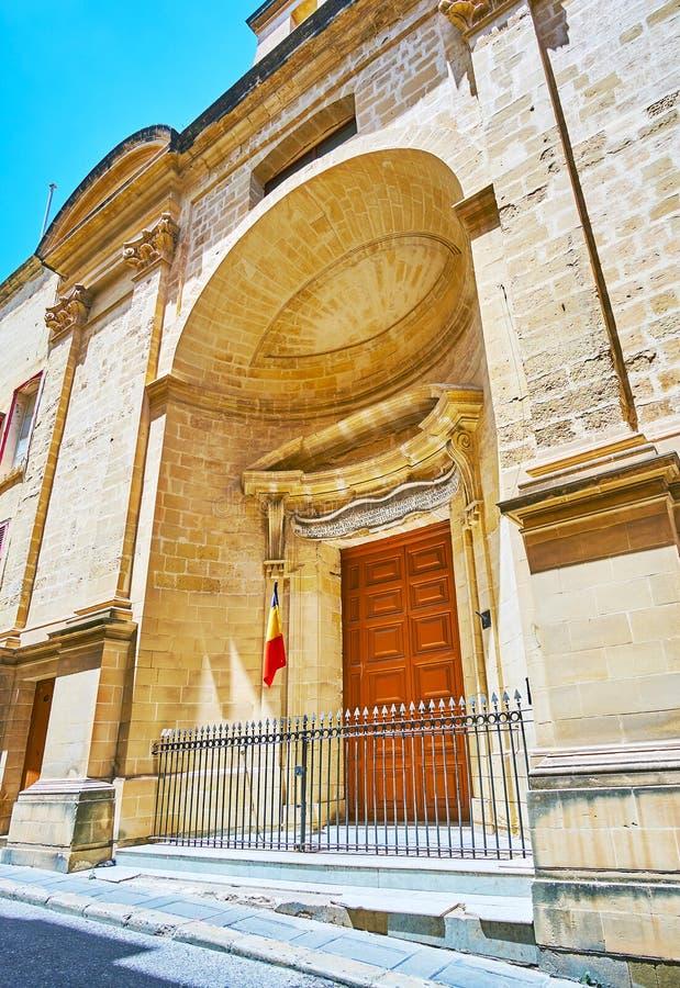 Εκκλησία του ST Roque σε Valletta, Μάλτα στοκ εικόνα