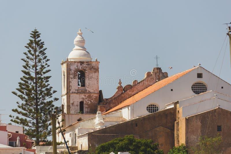 Εκκλησία του ST Sebastian/Igreja de Sï ¿ ½ ο Sebastiï ¿ ½ ο, Λάγκος, λιμένας στοκ φωτογραφία